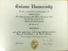 Tulane University Diploma